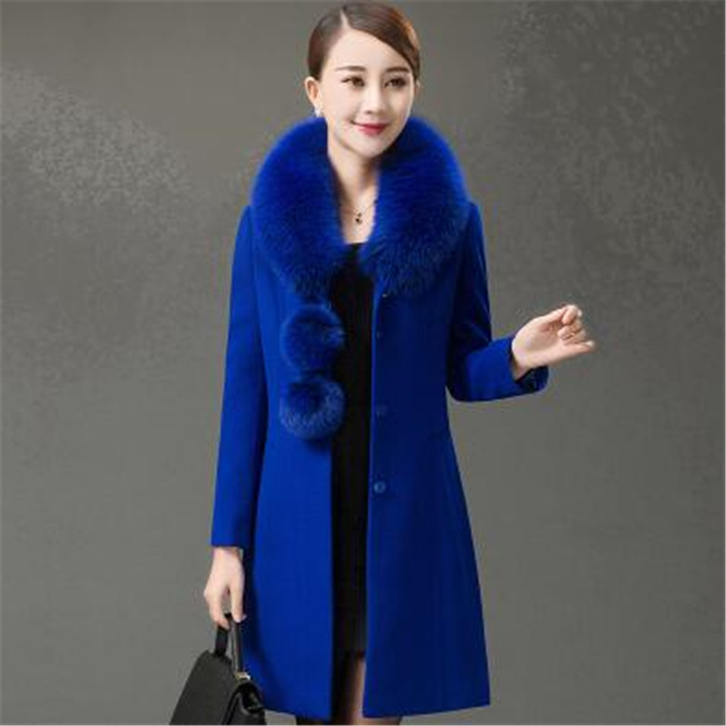 2019 dark Manteau Red Nouveau Fourrure 5xl blue D'âge Tnlnzhyn purple Hiver Mince E357 Blue Personnes Âgées Mode Col black Femmes Moyen Laine De f7yvI6mbgY