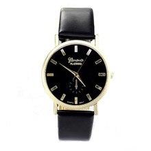 Мода Женева Часы Унисекс Мужчины Женщины Досуг Наберите Искусственного Кожаный Ремешок Римские цифры Кварцевые Наручные Часы mujer reloje 2016 часы