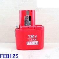 Ni CD 12V 1.5Ah Battery Replacement for HITACHI 12V FDS12DVA DV12DV EB12 FEB12 FEB12S EB 1224 EB 1230H eletric tools