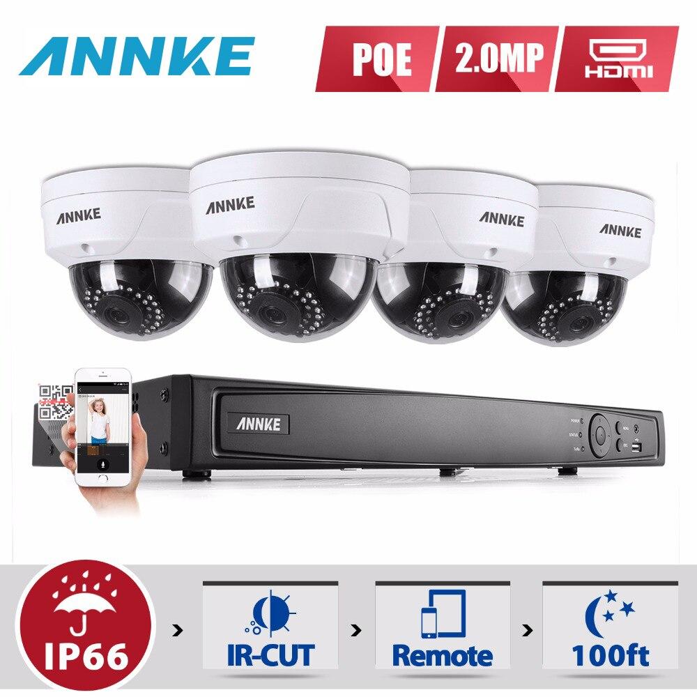 ANNKE Full HD 8CH NVR 1080P POE CCTV System Kit 2MP Indoor/ Outdoor IP Camera Waterproof IR P2P Video Security Surveillance 1TB цены