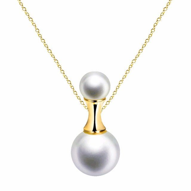 UMODE Newest Collier Rose Gold Color Simulated Pearl Pendant Necklaces Jewelry For Women Cheap Fashion Bijoux AUN0220A