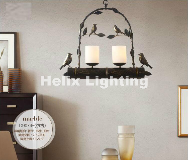 Free Shipping Modern Nordic Bird Pendant lamps LED lamp led lustre light Black Gold Bird Pendant light dining room free LED bulb nordic wrought iron simple modern pendant lamp with led bulb dinning room light cafe lamp e27 110v 220v free shipping