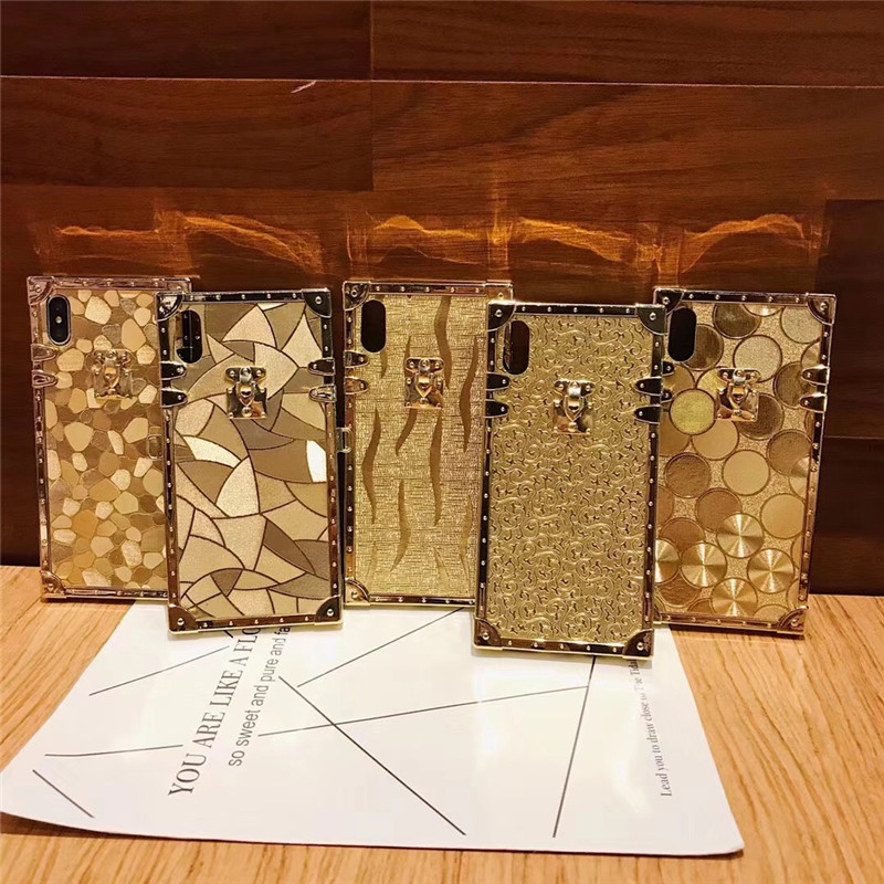 HTB1mTn2aPvuK1Rjy0Faq6x2aVXaa - Luxury Square Gold glitter case for Samsung S10 Plus S9 S8 3D high quality soft cover for iphone 11 Pro X XR XS MAX 6 7 8 coque