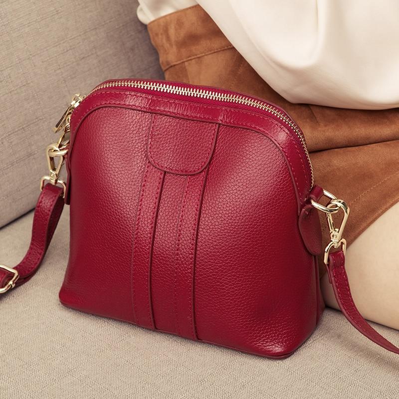 Genuine Leather Shoulder Bag Luxury Handbags Women Bags Designer Ladies Small Crossbody Bags Fashion Female Messenger Bag Totes