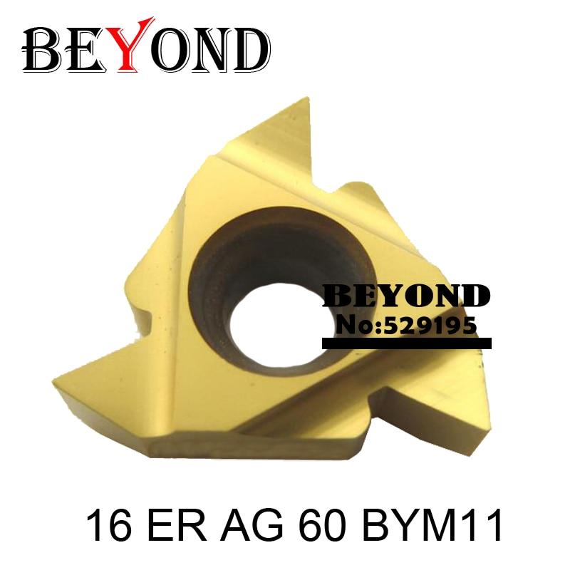 16 ER AG 60 BYM11, Iso Metric Celozávitové karbidové závitové destičky Závitové destičky pro karbid wolframových závitů 16ER AG60