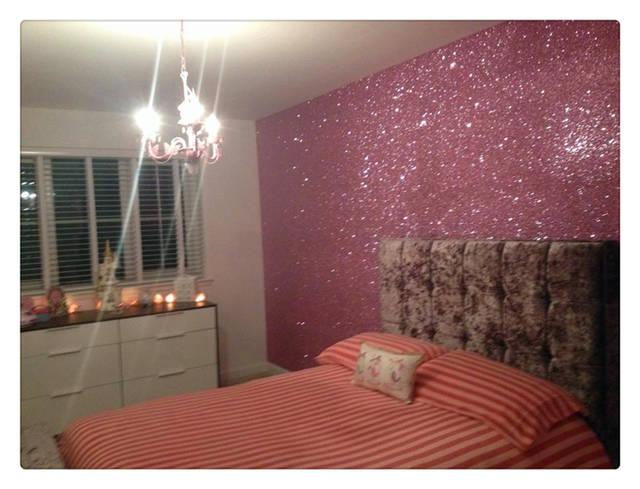 (50 Meter per roll ) glitter wallpaper fabric Grade 3 Baby pink glitter  fabric metallic wallpaper modern wallpaper color fabric