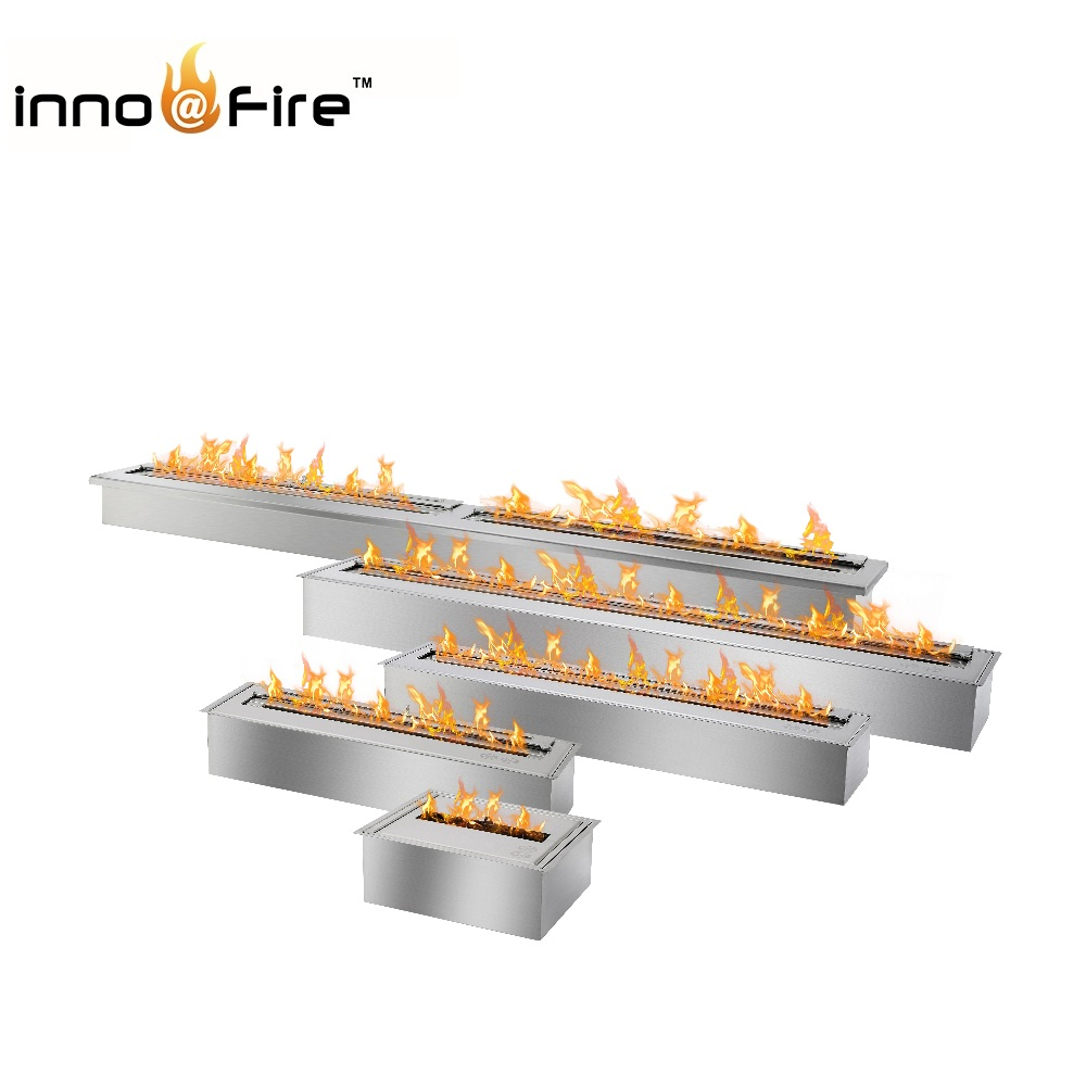 Inno-living 48 inch stainless steel indoor/outdoor ethanol fireplace stove цены онлайн
