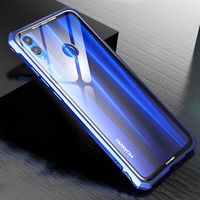 High end ultra thin metal frame Tempered glass mirror shell For Huawei honor 8X case 8X MAX case cover
