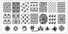 1Pcs 12*6cm XY-L Series Nail Stamping Plates DIY Image Plastic Nail Art Manicure Templates Stencils Salon Beauty Polish Tools