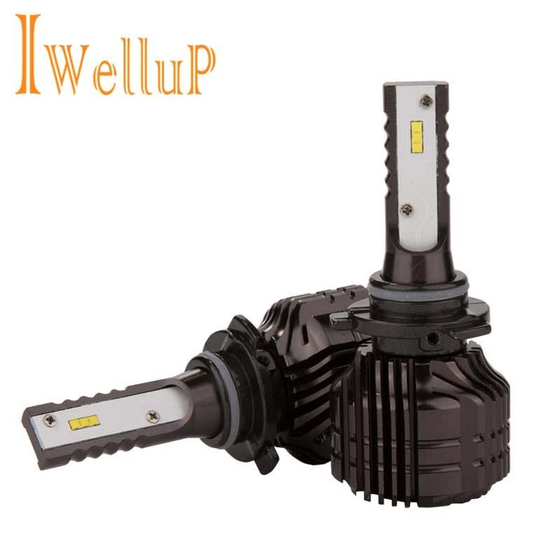 2 stücke plug & play H1 H3 9005/HB3 9006/HB4 H4 H7 Led Auto licht CSP 52 watt 9000LM Auto LED Scheinwerfer H11 H8 Nebel Lampen 6000 karat weiß
