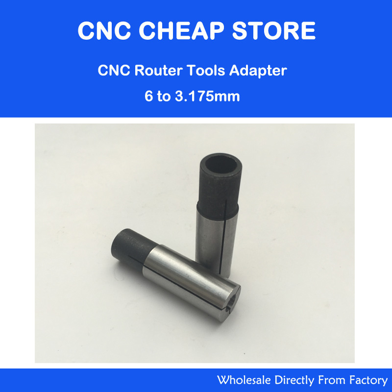 5Pcs 6mm To 3.175mm High Precision Power Collet Chuck CNC Adapter For Engraving Tools Bits And CNC Router Parts Free Shipping