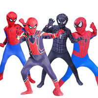 Spider Man Cosplay Costume Halloween Costumes For Boy Girl Black Superhero Fancy Kids and adult spiderman homecoming suit