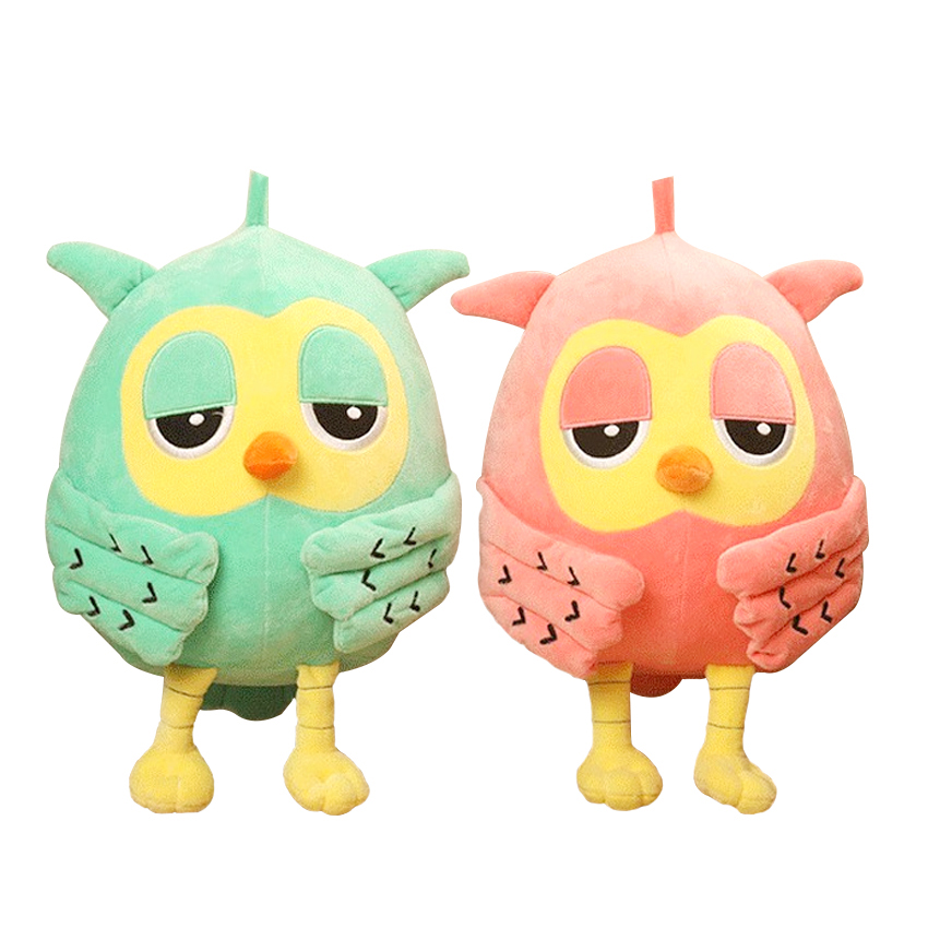1pc 12cm or 20CcmPopular Night Owl Plush Toy Baby Toys Stuffed Animal Doll 2 Colors Soft Baby Birthday Gifts Kids Toy  hot sale 2pcs 18cm super cute night owl plush toy doll baby toys owl stuffed animal doll best gift for kid free shipping