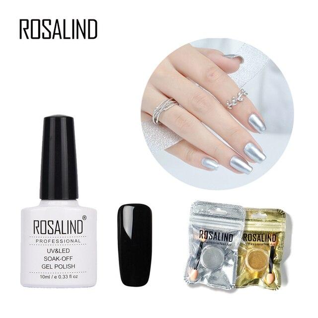 Rosalind Top Esmalte base para manicura espejo Brillos de uñas ...