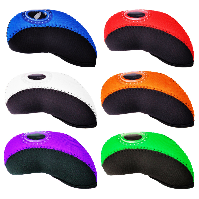 New Mens Golf headcover high quality PU Golf irons headcover  6 colors irons clubs headcover Free shipping