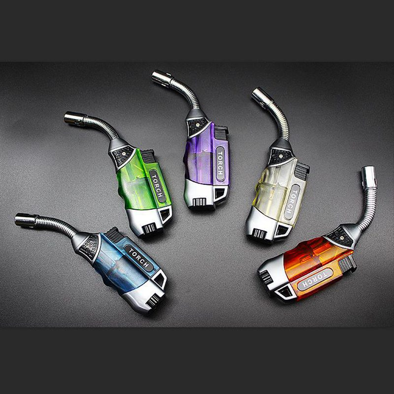 Kitchen Outdoor Barbecue Ignition Windproof Cigarette Lighter Metal Small Spray Gun Butane Gas Lighter Welding Torch Point Cigar in Matches from Home Garden