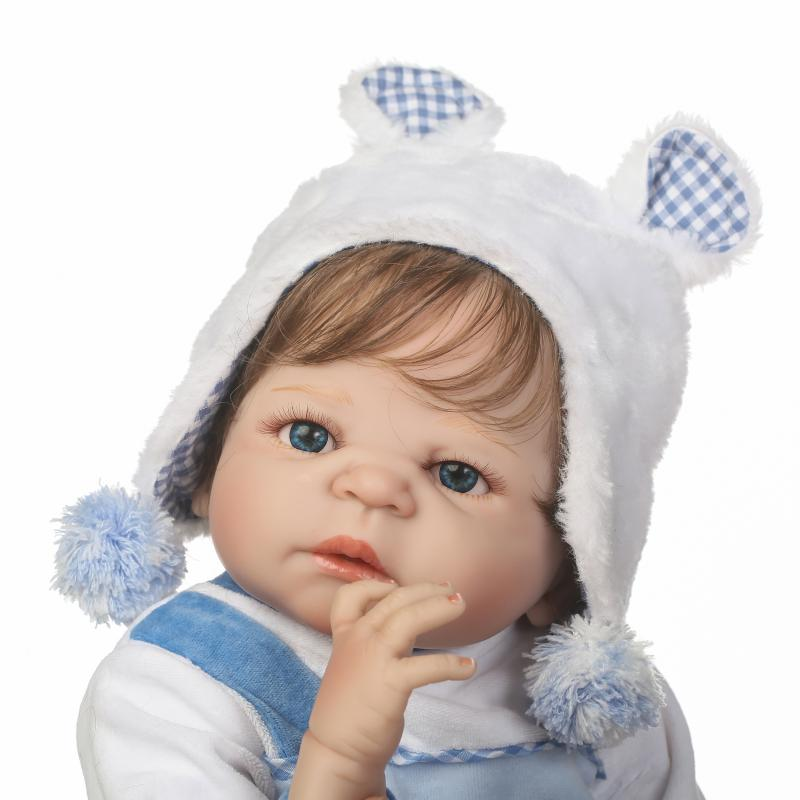57CM lifelike Reborn Baby boy Doll Full Silicone Vinyl Bebes Reborn Realistic Princess Baby Toy Doll For Children's Day Gifts