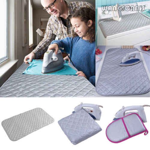 Easy Magnetic Table Ironing Board Cover Blanket Mat Laundry Pad Travel Protable Washer Dryer Cover Board Heat Resistant