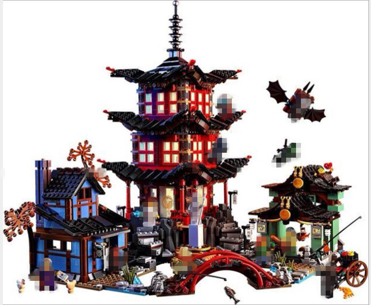 Compatible Ninja 70751 Lepin 06022 2150pcs blocks Ninja Figure Temple of Airjitzu toys for children building Bricks 70603 Gifts lepin 06037 compatible lepin ninjagoes minifigures the lighthouse siege 70594 building bricks ninja figure toys for children