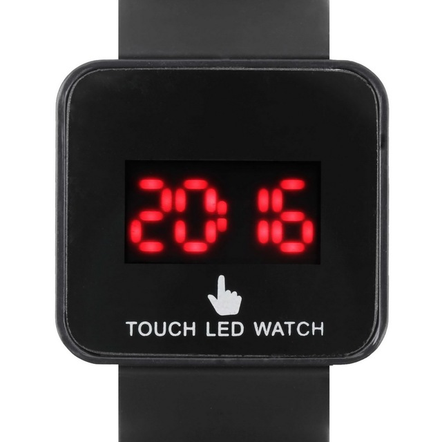 Digital LED Colorful Touch Screen Silicone Date Time Unisex Sport Stylish Wrist