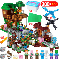 2019 NEW Building Blocks My World LegoING Minecrafted Sets Village The Tree House Min Kits Figures Educational Toys For Children