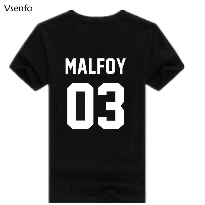Vsenfo Mens T Shirt Malfoy 03 Casual Coton À Manches Courtes Hipster O Cou D'été T Chemises Pour Hommes Femmes Camisas Mujer S-XXXL