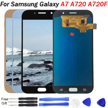 Mobile Amoled LCD For Samsung Galaxy A7 2017 A720 A720F LCD Display Touch Screen Digitizer Assembly LCD for Galaxy A7 2017 Duos