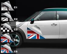 2 X decoración de la puerta lateral del coche pegatina y calcomanías para mini Countryman cooper R50 R52 R53 R56 R58