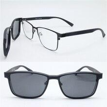 one piece sale 9916 TR90 metal wayfare optical glasses frame with megnatic clip on removable polarized sunglasses lens