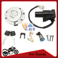 Aluminum Motorcycle Fuel Gas Cap Cover Ignition Switch Seat Lock Key Set for Honda CBR600 F4 1999 2000 CBR600 F4I 2001 2002