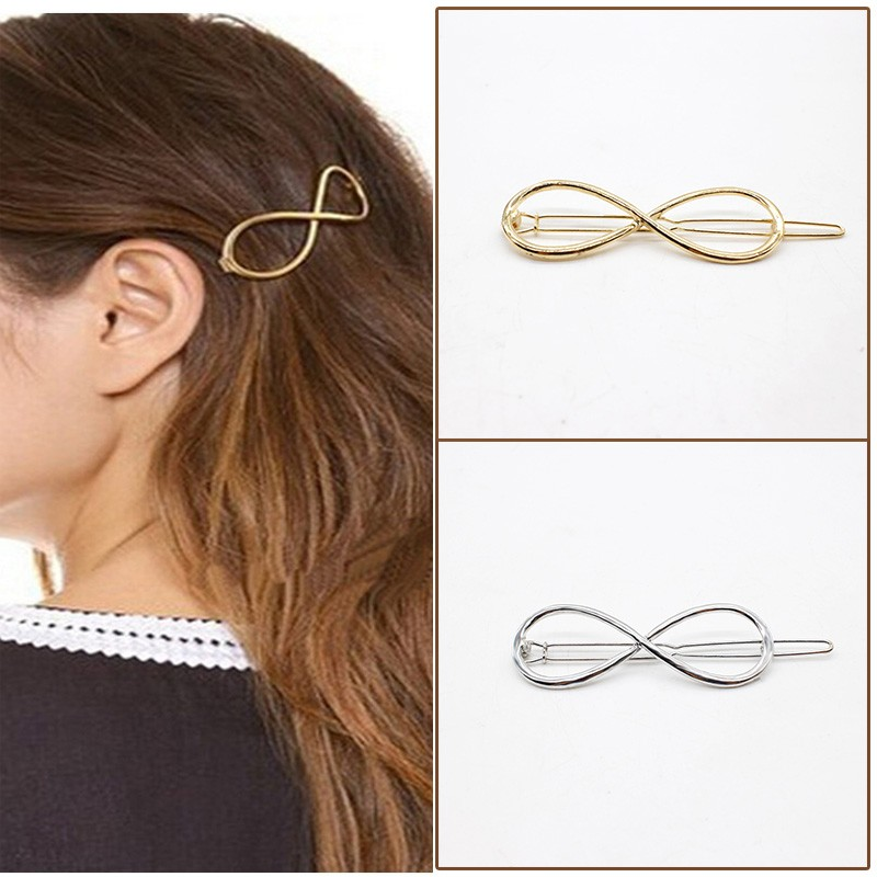 NEW Fashion Hairpins Round triangle Moon Hair pins Metal head jewelry for Women Lady Barrette Clip Hair Accessories Girls Holder 4