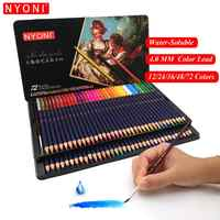 Lápiz de acuarela de núcleo suave Premium 12 24 36 48 72 150 lapislázuli de cor lápices de colores profesionales solubles en agua para suministros de arte
