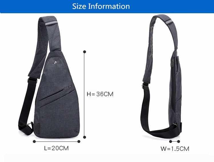 Męski plecak antykradzieżowy mężczyźni sling torba na jedno ramię chłopiec wodoodporna podróż mała torba piersiowa slim mini torba crossbody dropshipping