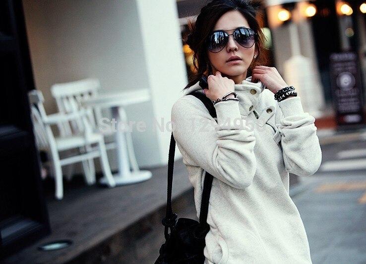 d509fbf5507b 2015 nuevo Hot cuello alto chaquetas, sudadera de la mujer, capa de polvo,  sudaderas con capucha ropa, chaqueta de algodón, invierno w49 en Sudaderas  con ...