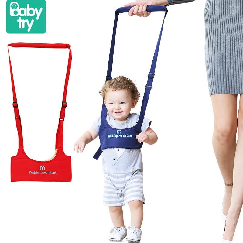 Babytry Soft Elastic Baby Learning Walking Balance Assistant Walker Toddler Belt With Adjustable Strap Safety Harness Protection