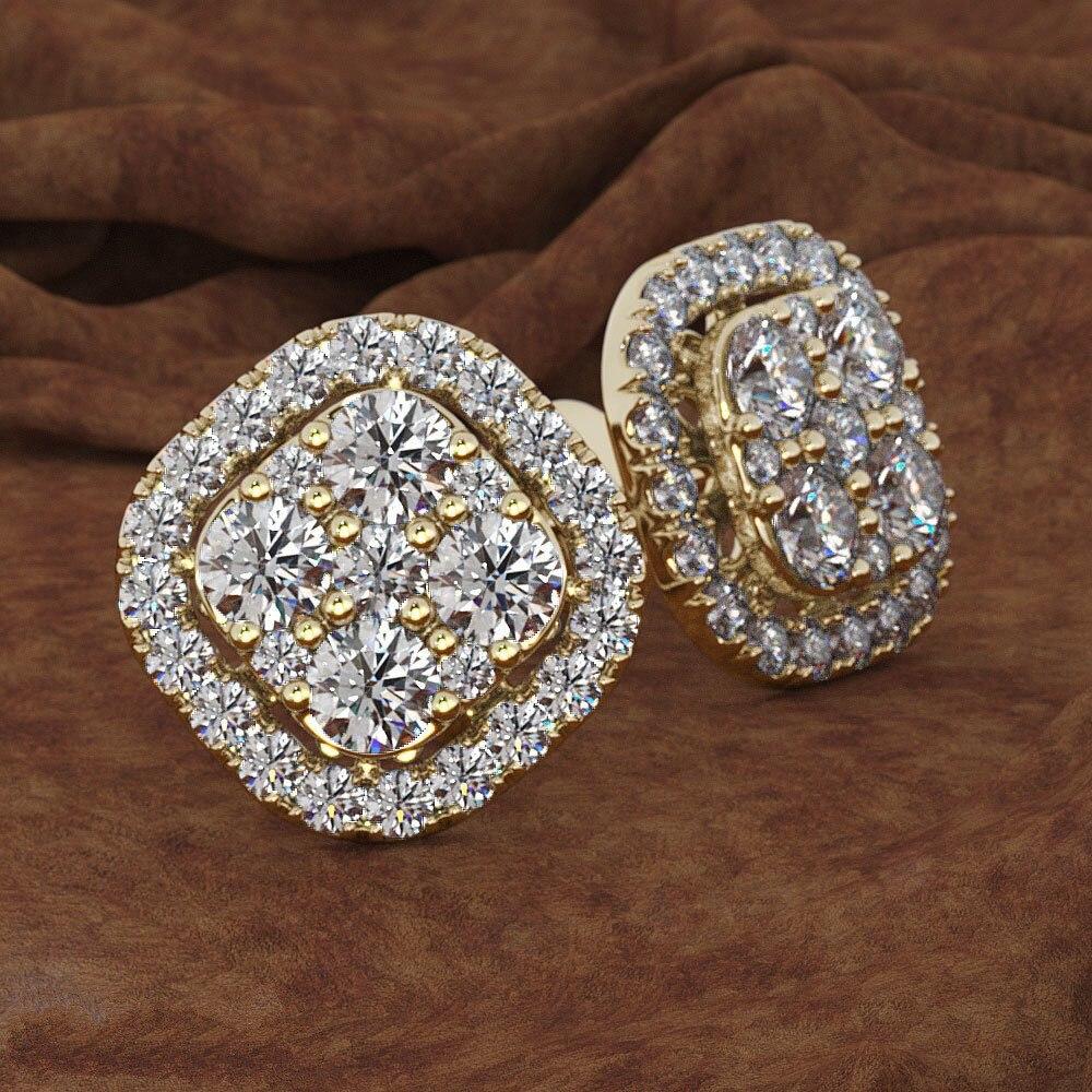 HTB1mTpmVAvoK1RjSZFwq6AiCFXam Square Full 14K Rose Gold Jewelry Eight Hearts and Eight Arrows Garnet 14K gold Peridot Diamond Stud Earring Gemstone orecchini