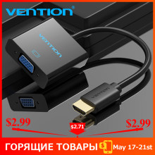 Vention HDMI untuk Adaptor VGA Digital Ke Analog Konverter Audio Video Cable 1080 P untuk Xbox 360 PS3 PS4 PC LAPTOP TV Box Proyektor(China)