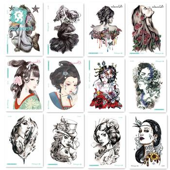 21*15cm Large Big Arm Back Body Tattoo Sticker Sexy Girl Woman Designs Temporary New Arrival 2016 Fashion