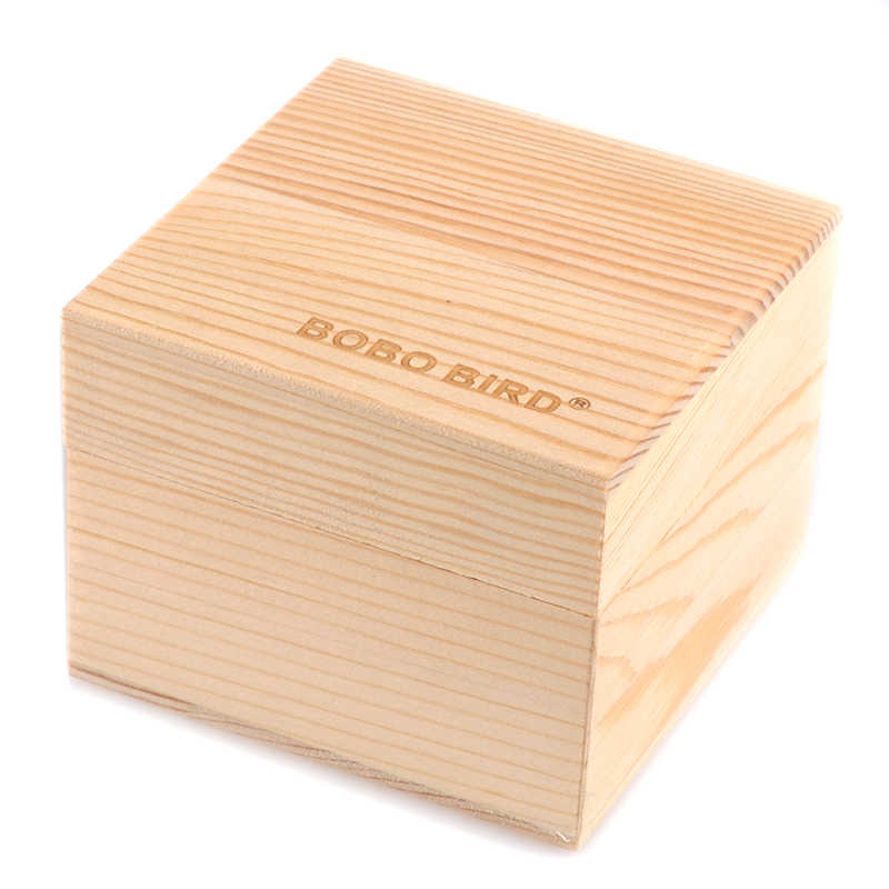 Caja de madera de bambú en blanco para reloj/reloj y cajas de joyería