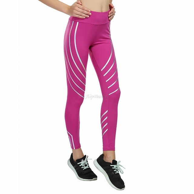 Compact Laser Reflective Legging Women'S Yoga-Pants Push-Up Sport Fitness-Femme Leggings Tranining Running Joggers Sweatpants 4