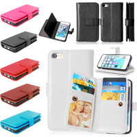 Wallet Case Magnetic Flip PU Leather Case With Photo Frame 9 Cards Holder Smart Stand Skin