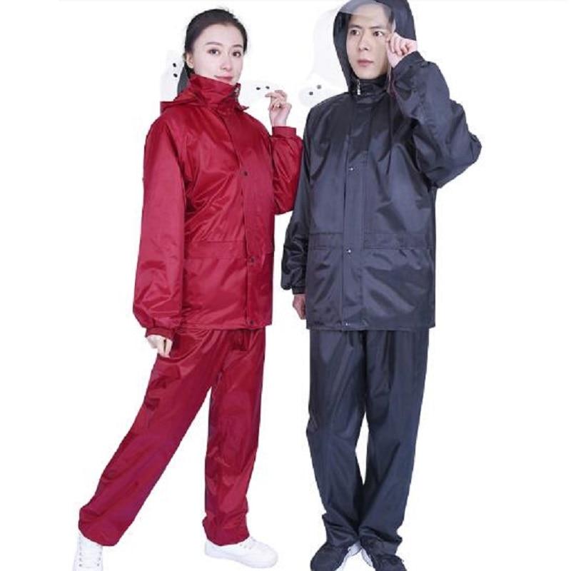 Waterproof Rain Suit Jacket /& Trousers Set Women/'s Men/'s Rain Coat