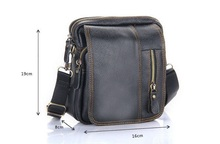 May New Arrival Men's Genuine Leather Shoulder Bag Crossbody Bags For Men Messenger Bag Portfolio Briefcase   LJ-426