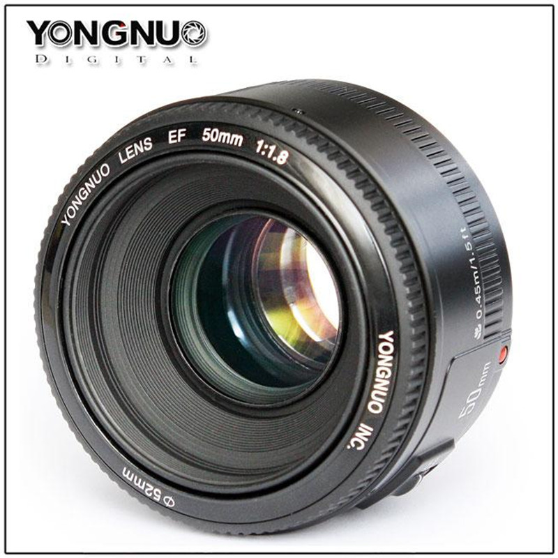 YONGNUO 50mm F/1.8 large aperture auto focus lens EF AF/MF YN50mm Lente For Canon EOS 600D 550D 70D 700D 1100D 1200D DSLR Camera new canon eos 1200d dslr camera body with ef s 18 55mm f 3 5 5 6 iii lens black