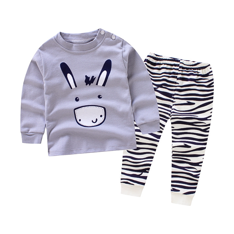 2017 autumn winter Cotton Baby Boys Clothing Sets Children cartoon car 2pcs tops + pants Kids formal Clothes Suits