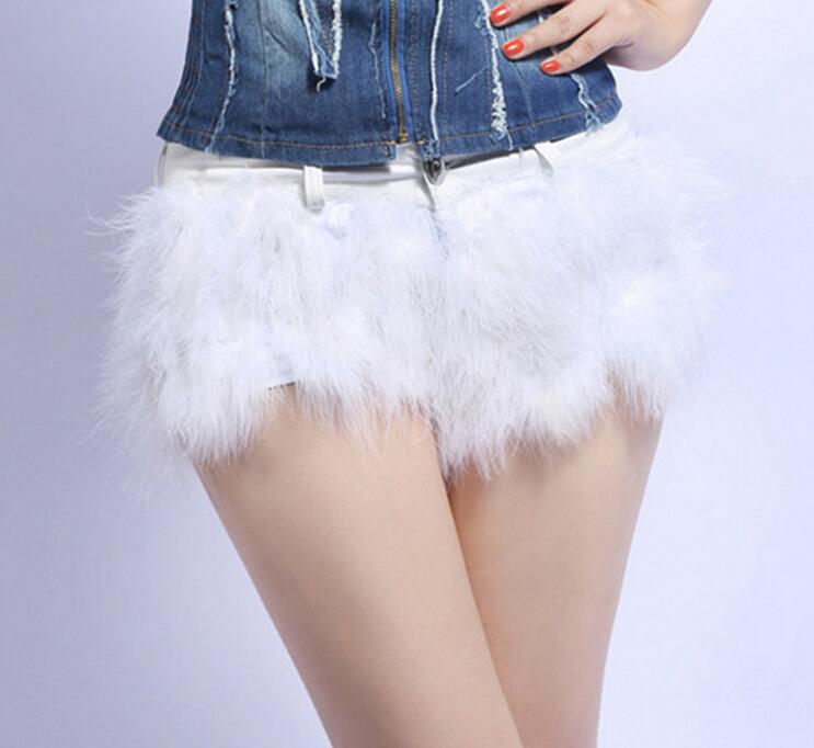 Sexy desgaste do clube das mulheres de baixa calções de cintura shorts  curtos penas patchwork fino 1f75e70c237d8