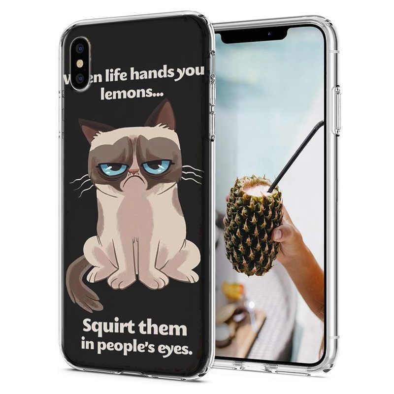Doux Téléphone étui pour iphone X XS XR Housse TPU Coloré Mignon Chat Chien Ours Motif Coque Fundas Pour iPhone6 7 8 XS Max M053
