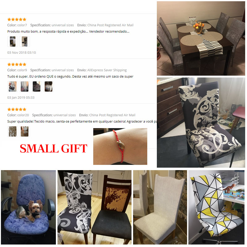Spandex Geometry Elastic Printing Dining Chair Cover Anti Dirty Kitchen Seat Case Stretch Dining Chair Slipcover
