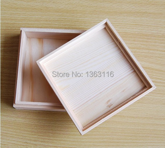 2017 new arrival square and rectangle shape unfinished for Unfinished wooden boxes for crafts