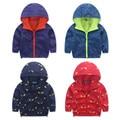 ¡ VENTA CALIENTE! con capucha de la Chaqueta A Prueba de Viento para Los Bebés 2016 Nueva Primavera Otoño ropa Para Niños Abrigos para Niños Ropa de Abrigo para Niños